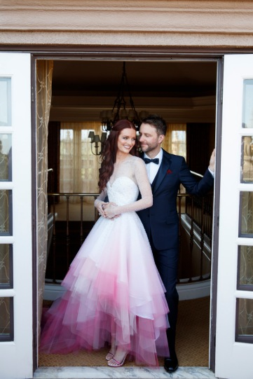 Scenes from the wedding of Chris Hardwick and Lydia Hearst, at the Langham Huntington Hotel in Pasadena, CA., Aug. 20 2016. Photo credit: JLC/Lara Porzak Photography For reuse contact: Brittany Gilpin